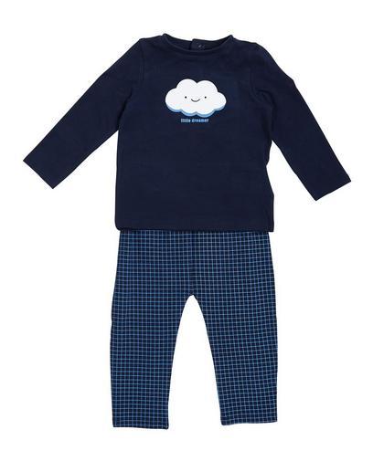Nachtblauer Schlafanzug